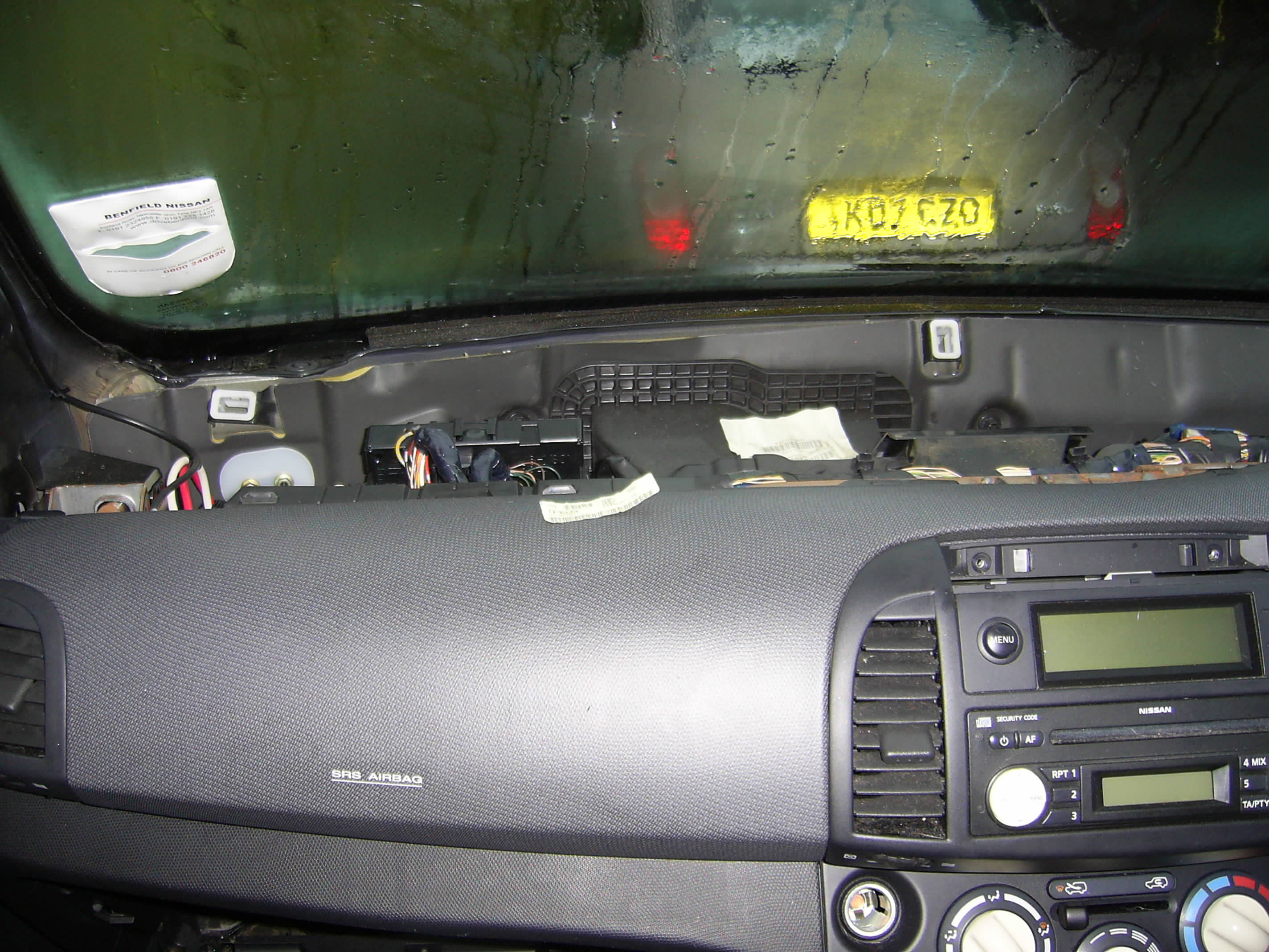 Dashboard removal heater fan